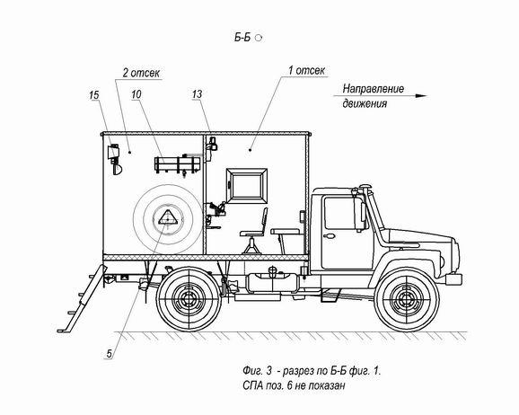 Шасси ГАЗ-33081.  Коробка дополнительного отбора мощности (КДОМ).  Колесная формула 4x4.