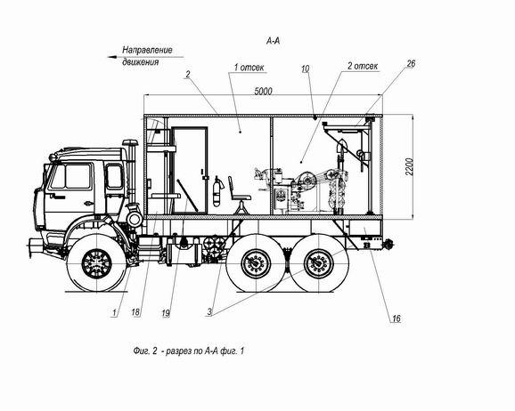 ...(автолаборатории) МПЗ-СГИ для гидродинамических исследований и ремонта скважин на шасси а/м КАМАЗ-43114.